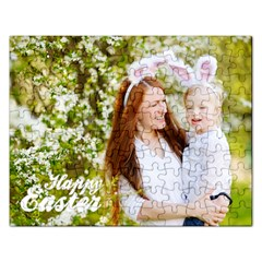 Happy Easter Family Bunny Jigsaw Puzzle (rectangle) by strawberrymilkstore8