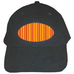 Lines Black Cap by Valentinaart