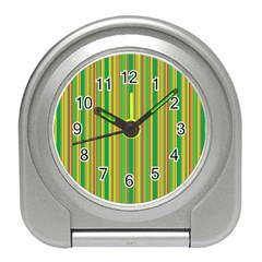 Lines Travel Alarm Clocks by Valentinaart
