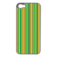 Lines Apple Iphone 5 Case (silver) by Valentinaart