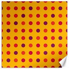 Polka Dots  Canvas 20  X 20   by Valentinaart