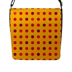 Polka Dots  Flap Messenger Bag (l)  by Valentinaart