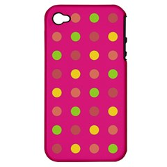 Polka Dots  Apple Iphone 4/4s Hardshell Case (pc+silicone) by Valentinaart