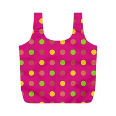 Polka Dots  Full Print Recycle Bags (m)  by Valentinaart