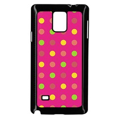 Polka Dots  Samsung Galaxy Note 4 Case (black) by Valentinaart