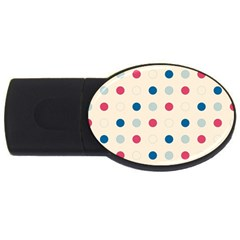 Polka Dots  Usb Flash Drive Oval (2 Gb) by Valentinaart