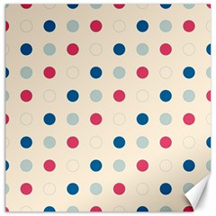 Polka Dots  Canvas 12  X 12   by Valentinaart