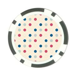 Polka Dots  Poker Chip Card Guard by Valentinaart