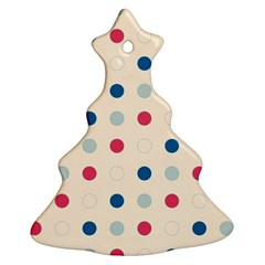 Polka Dots  Ornament (christmas Tree)  by Valentinaart