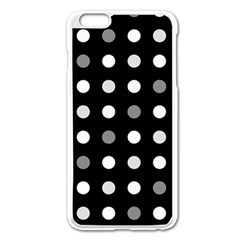 Polka Dots  Apple Iphone 6 Plus/6s Plus Enamel White Case by Valentinaart