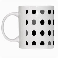 Polka Dots  White Mugs by Valentinaart