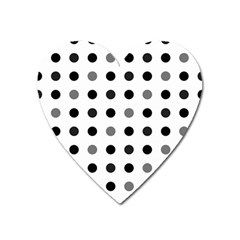 Polka Dots  Heart Magnet by Valentinaart