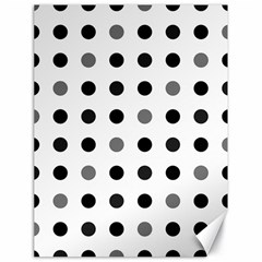 Polka Dots  Canvas 18  X 24   by Valentinaart