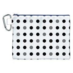 Polka Dots  Canvas Cosmetic Bag (xxl) by Valentinaart
