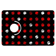 Polka Dots  Kindle Fire Hdx Flip 360 Case by Valentinaart