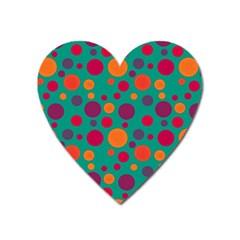 Polka dots Heart Magnet