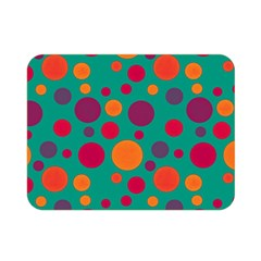 Polka Dots Double Sided Flano Blanket (mini)  by Valentinaart