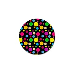 Polka Dots Golf Ball Marker by Valentinaart