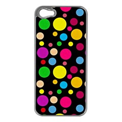 Polka Dots Apple Iphone 5 Case (silver) by Valentinaart