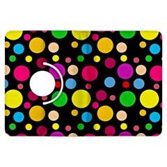 Polka Dots Kindle Fire Hdx Flip 360 Case by Valentinaart
