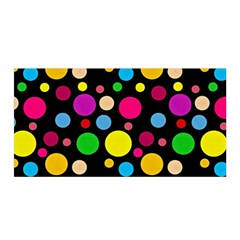 Polka Dots Satin Wrap by Valentinaart