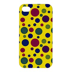 Polka Dots Apple Iphone 4/4s Premium Hardshell Case by Valentinaart