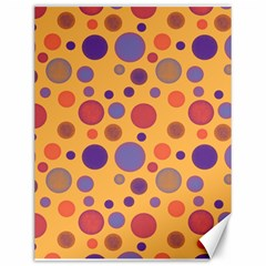 Polka Dots Canvas 12  X 16   by Valentinaart