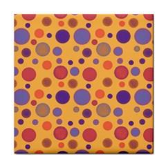 Polka Dots Face Towel by Valentinaart