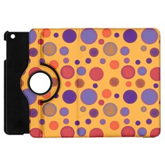 Polka Dots Apple Ipad Mini Flip 360 Case by Valentinaart