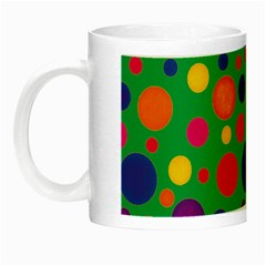 Polka Dots Night Luminous Mugs by Valentinaart