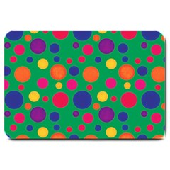 Polka Dots Large Doormat  by Valentinaart