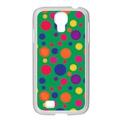 Polka Dots Samsung Galaxy S4 I9500/ I9505 Case (white) by Valentinaart