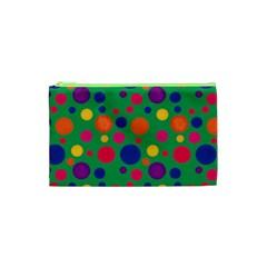 Polka Dots Cosmetic Bag (xs) by Valentinaart
