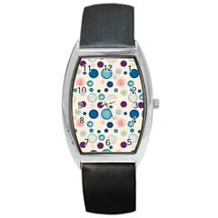 Polka Dots Barrel Style Metal Watch by Valentinaart