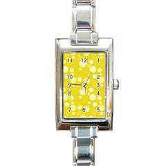 Polka Dots Rectangle Italian Charm Watch