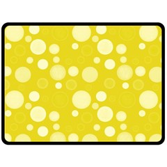 Polka Dots Fleece Blanket (large)  by Valentinaart