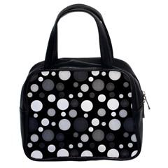 Polka Dots Classic Handbags (2 Sides) by Valentinaart