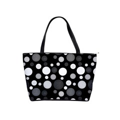 Polka Dots Shoulder Handbags by Valentinaart