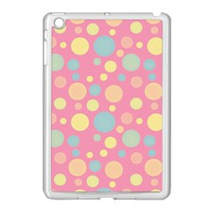 Polka Dots Apple Ipad Mini Case (white) by Valentinaart