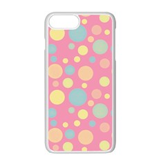 Polka Dots Apple Iphone 7 Plus White Seamless Case by Valentinaart