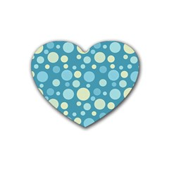 Polka Dots Heart Coaster (4 Pack)  by Valentinaart