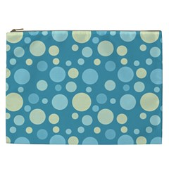 Polka Dots Cosmetic Bag (xxl)  by Valentinaart