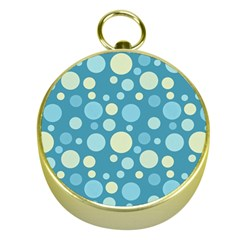 Polka Dots Gold Compasses by Valentinaart
