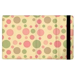 Polka Dots Apple Ipad 2 Flip Case by Valentinaart