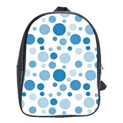 Polka Dots School Bags (xl)  by Valentinaart