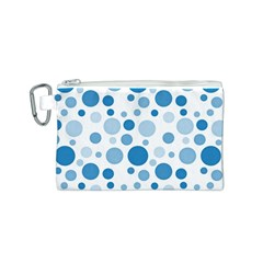 Polka Dots Canvas Cosmetic Bag (s) by Valentinaart
