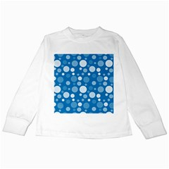 Polka Dots Kids Long Sleeve T Shirts by Valentinaart