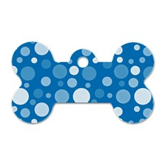 Polka Dots Dog Tag Bone (two Sides) by Valentinaart