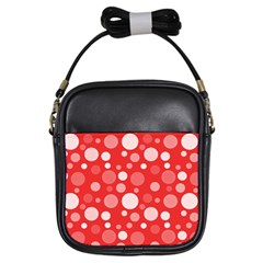 Polka Dots Girls Sling Bags by Valentinaart