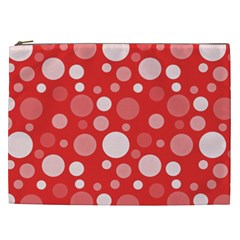 Polka Dots Cosmetic Bag (xxl)  by Valentinaart